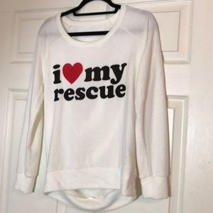 "Chaser super soft ""I ❤️ my rescue"" open back"
